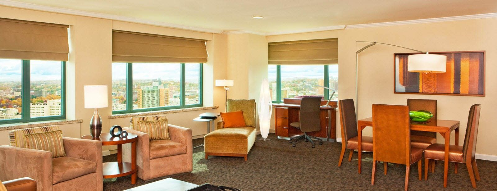 Sheraton Boston Hotel luxury suites lounge